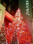 資生堂本店前のクリスマスイルミネーション2008