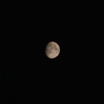 十三夜(2007.10.23)の月(写真)