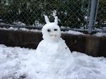 鬼の雪だるま!?